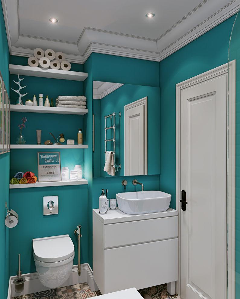 Расположение раковины и унитаза в маленькой ванной