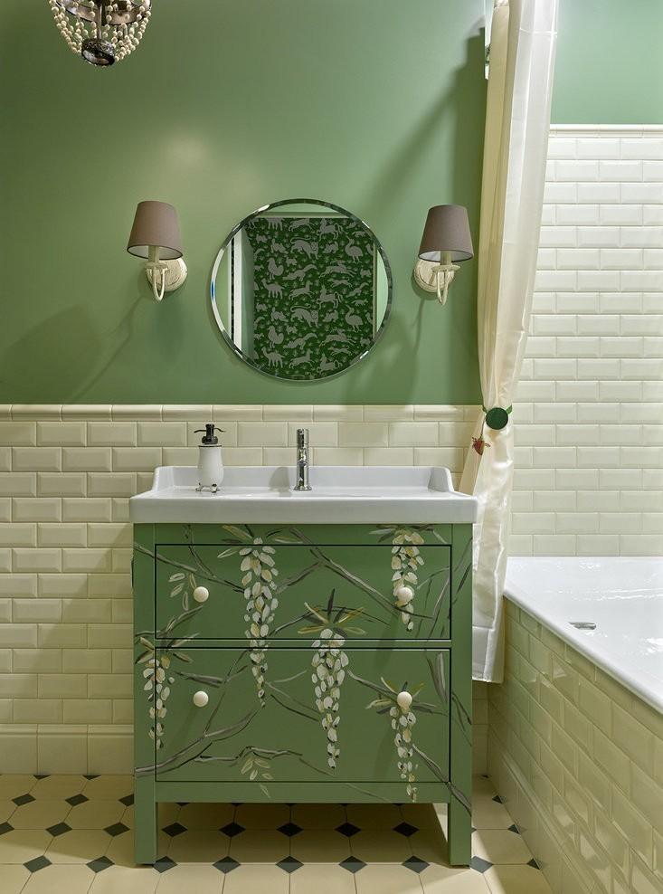Дизайн ванной комнаты в хрущевке - пастельные тона