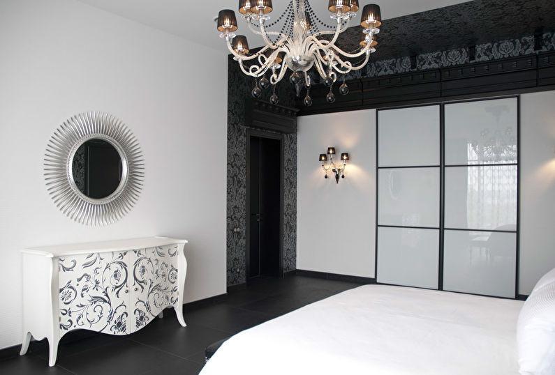 фото белой спальни в стиле арт деко слой бумаги для