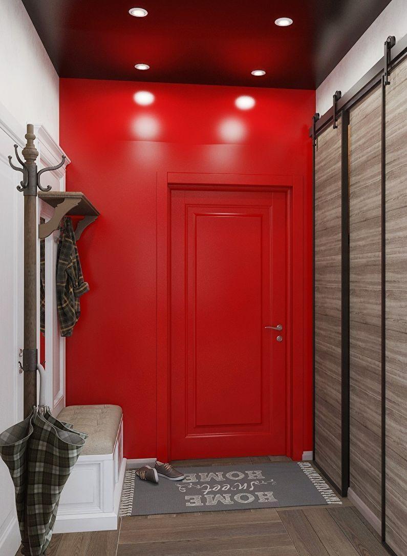 пластилина коридор красный фото миниатюрными часами, изготовленное