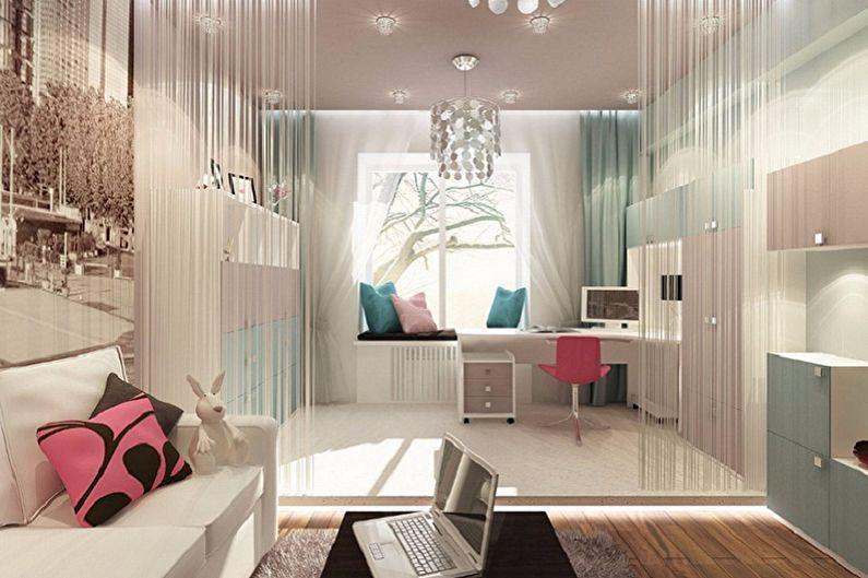 Как зонировать комнату для родителей и ребенка - Как зонировать комнату шторами